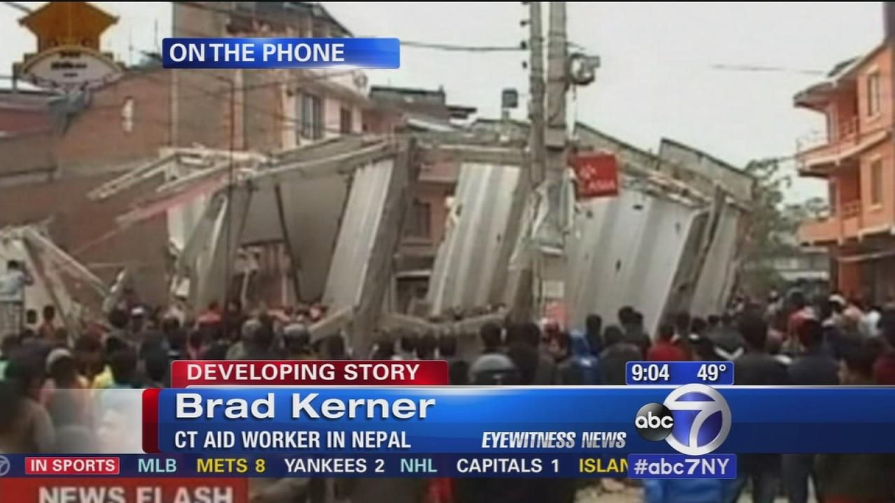 Connecticut aid worker describes conditions in Nepal