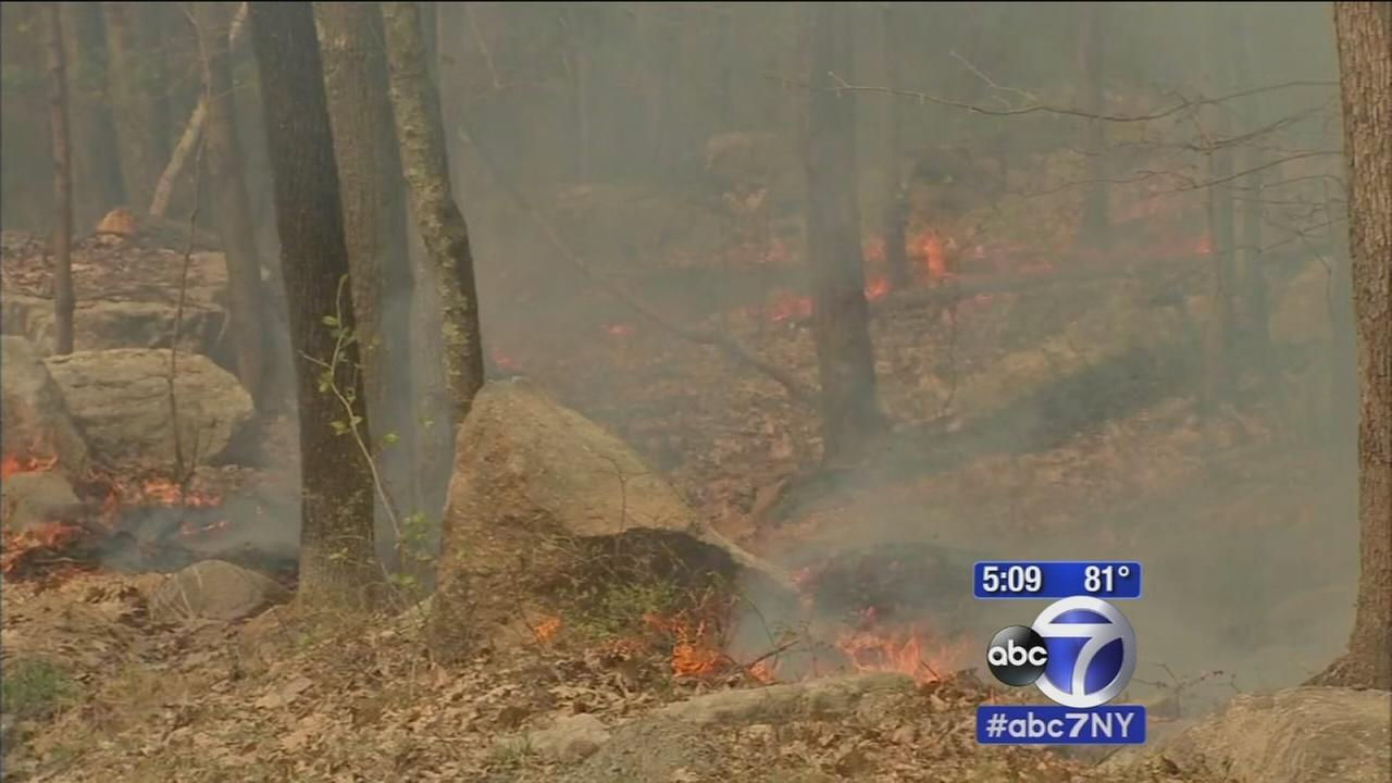 State forest in Ulster County experiencing at least 5 major fires