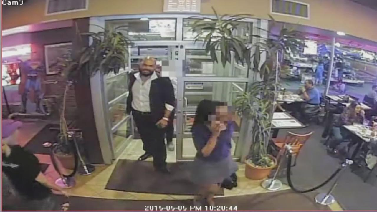 New video shows suspect in restaurant attack