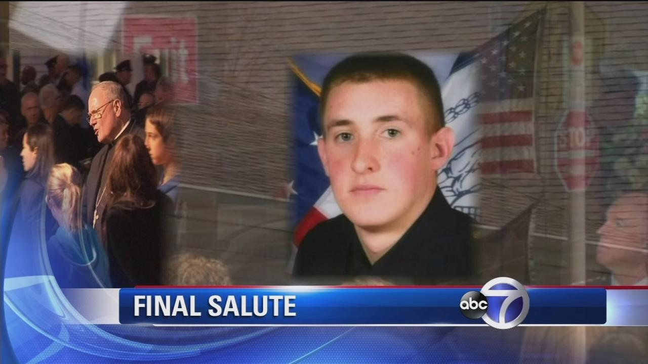 Wake held in Bethpage for NYPD Officer Brian Moore; funeral Friday