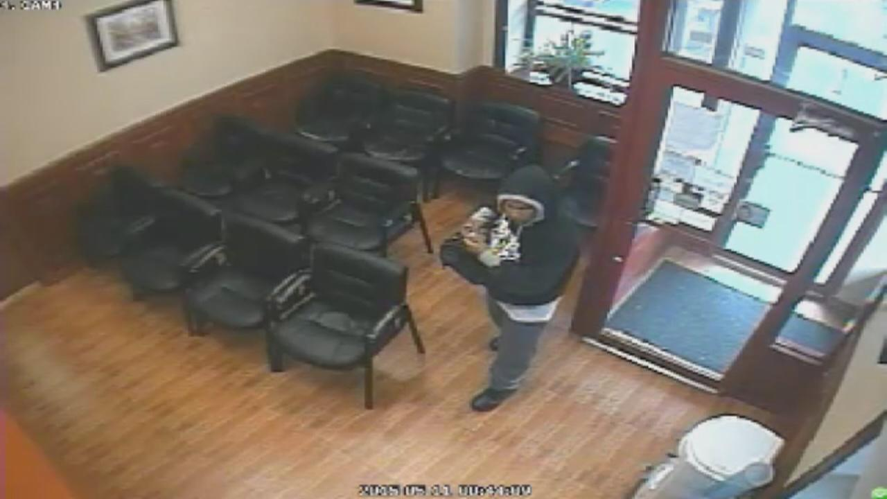 Suspect sought in dental office robbery