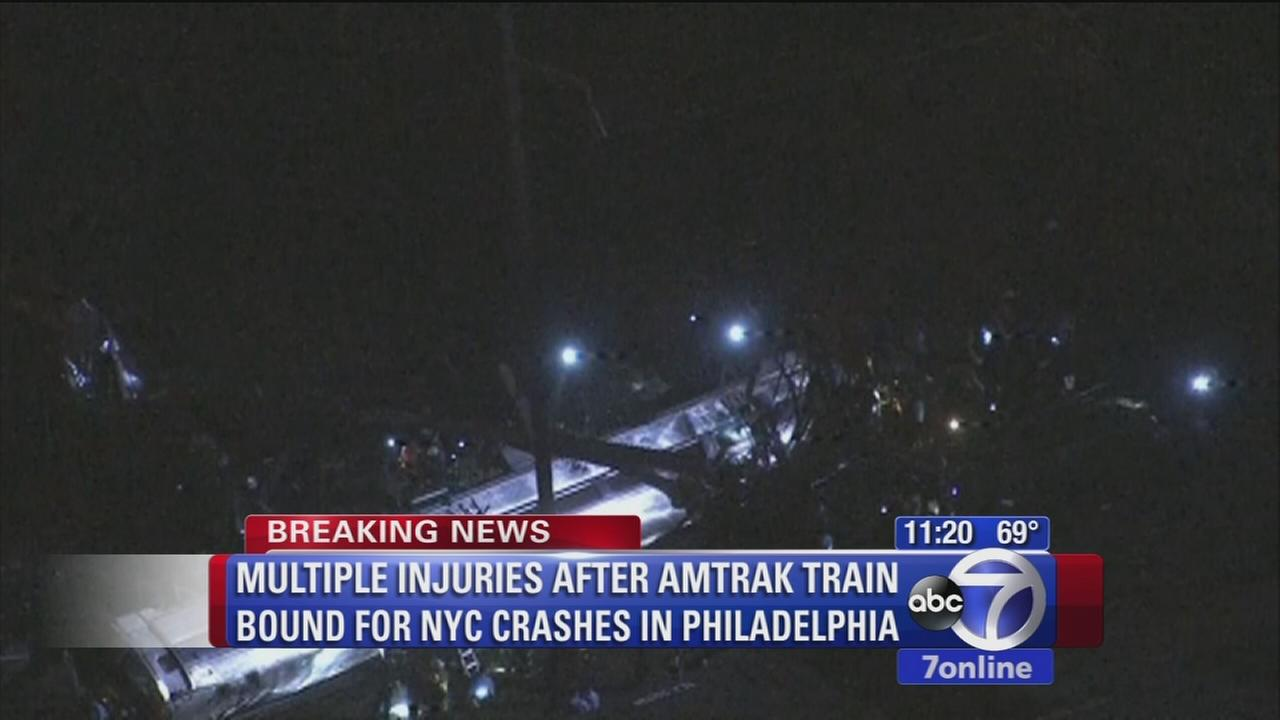 Multiple injuries reported due to train derailment in Philadelphia