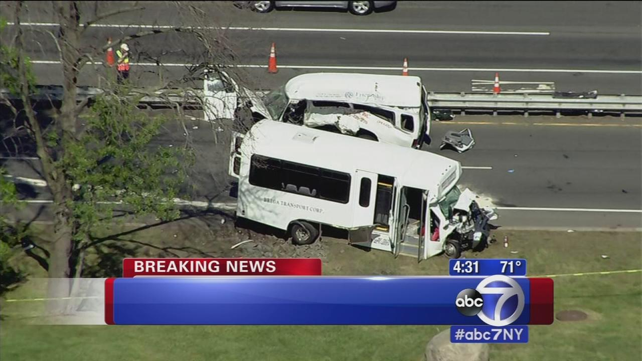 Fatal crash between bus and ambulette in West Nyack