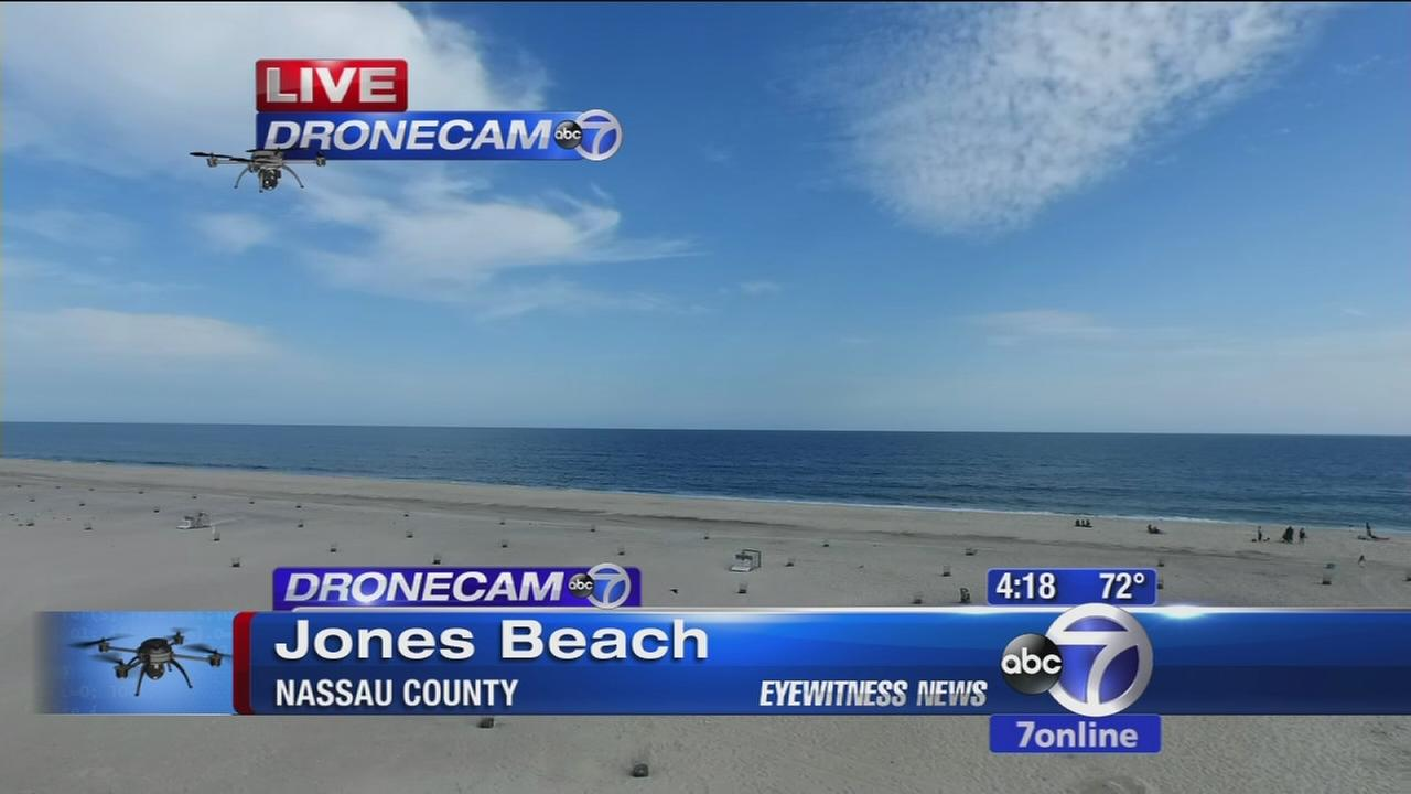 Dronecam 7 flies over Jones Beach