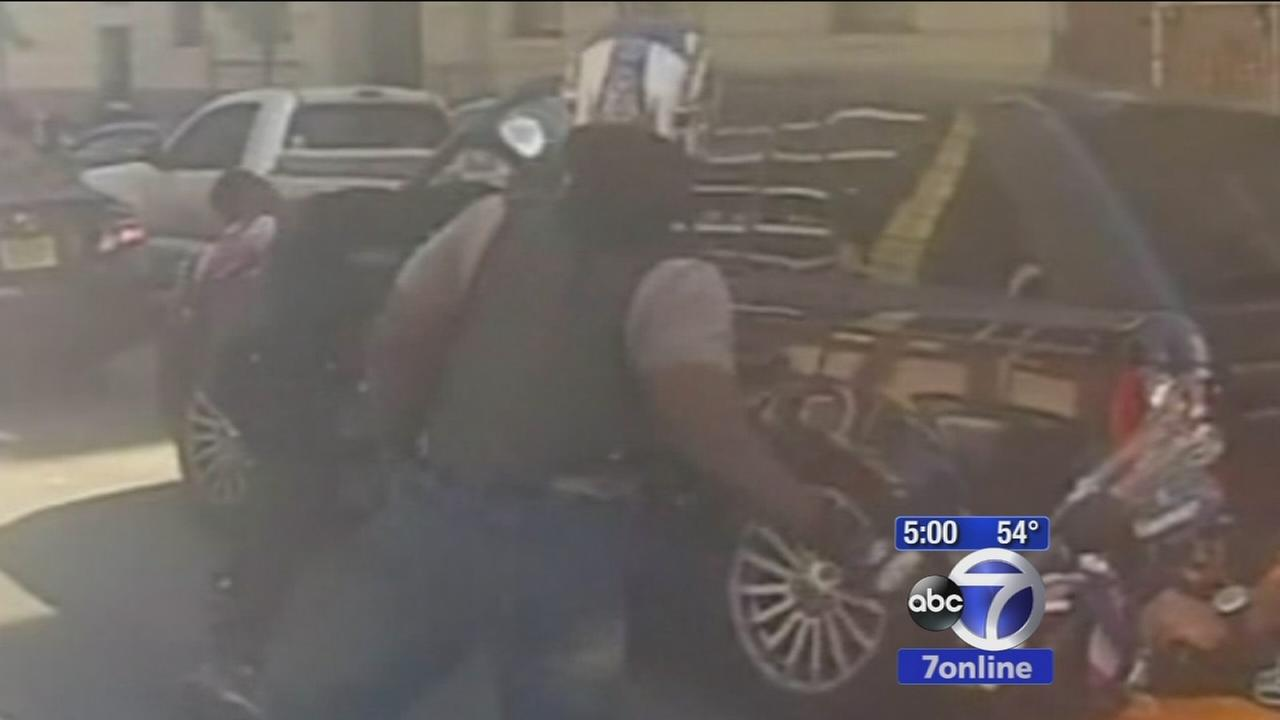 Undercover NYPD officer testifies in SUV biker assault trial