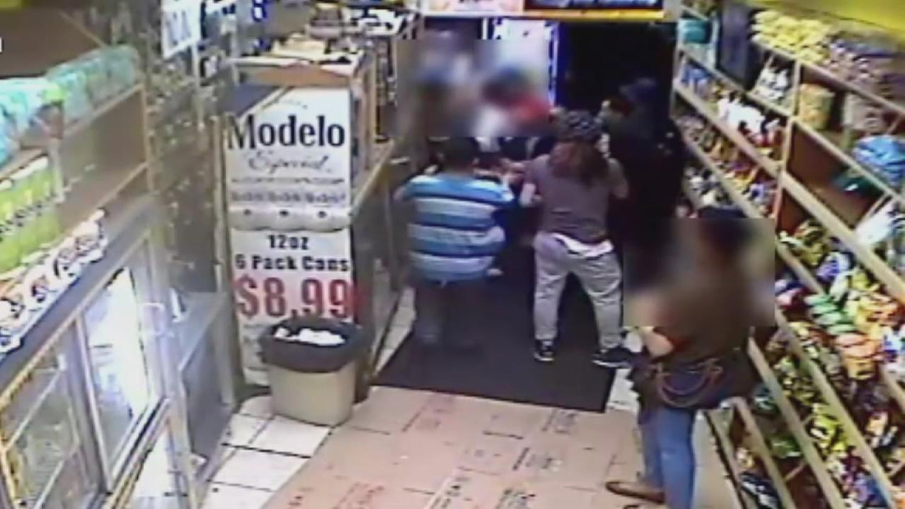 Raw video of attack on clerk in Bronx deli
