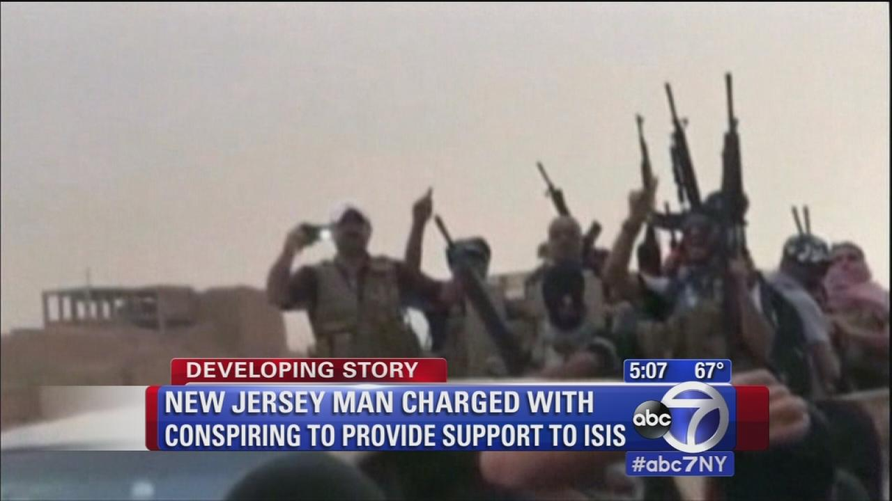 Man from NJ charged with conspiring to provide support to ISIS