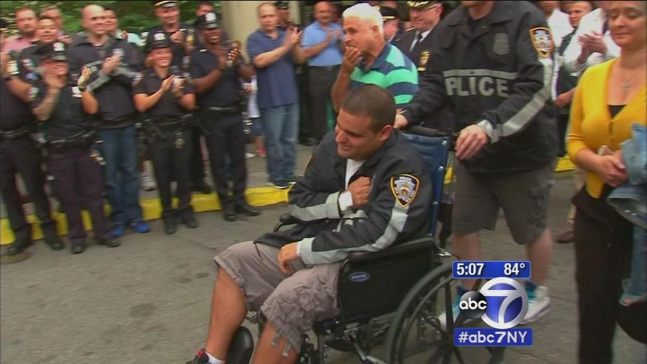 NYPD officer stabbed in Brooklyn confrontation leaves hospital