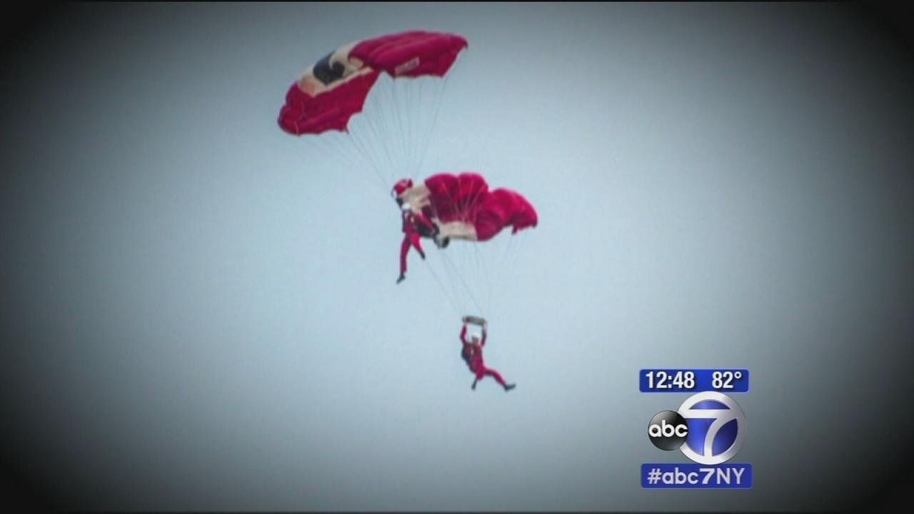 British stunt skydiver rescues teammate after parachute fails to open mid-air