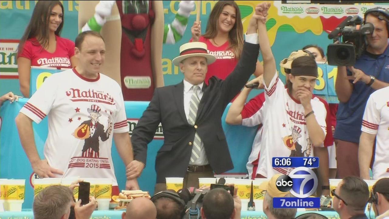 Matt Stonie tops Joey Chestnut in Hot Dog Eating Contest