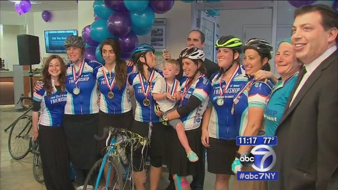 Bicyclists return to Brooklyn after 650 mile charity ride
