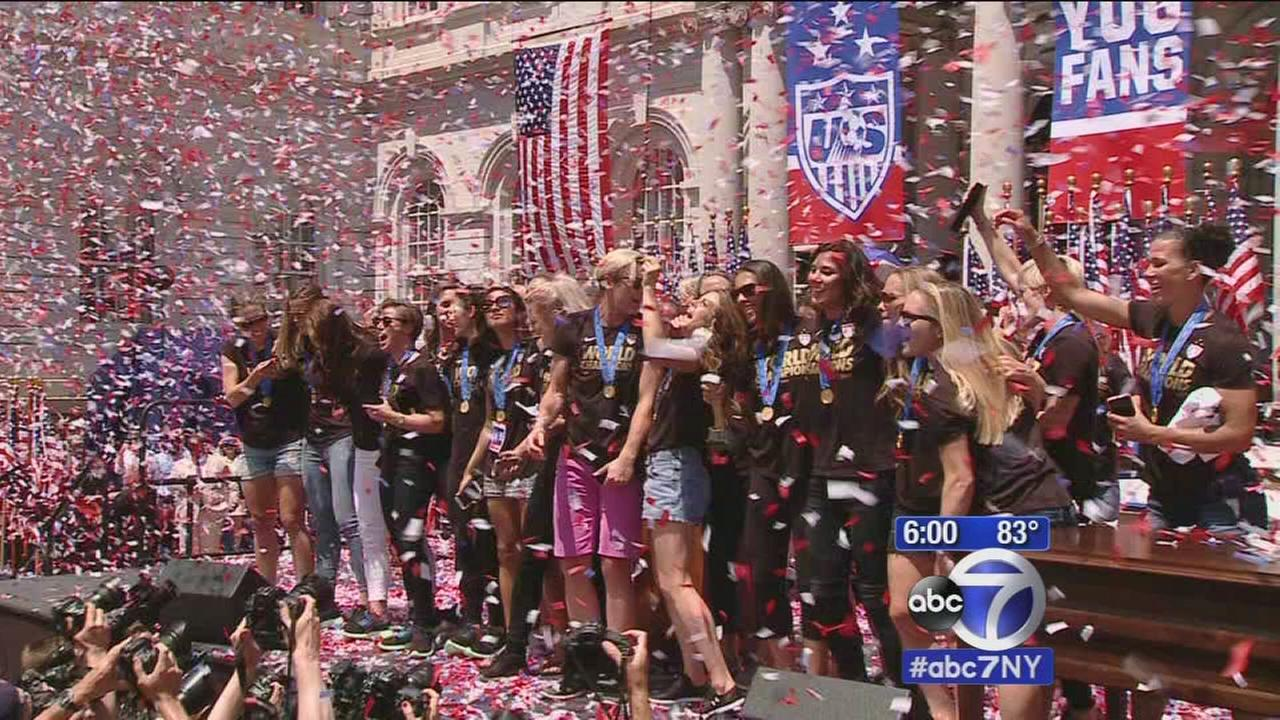 New York City full of energy for US Womens Soccer victory parade