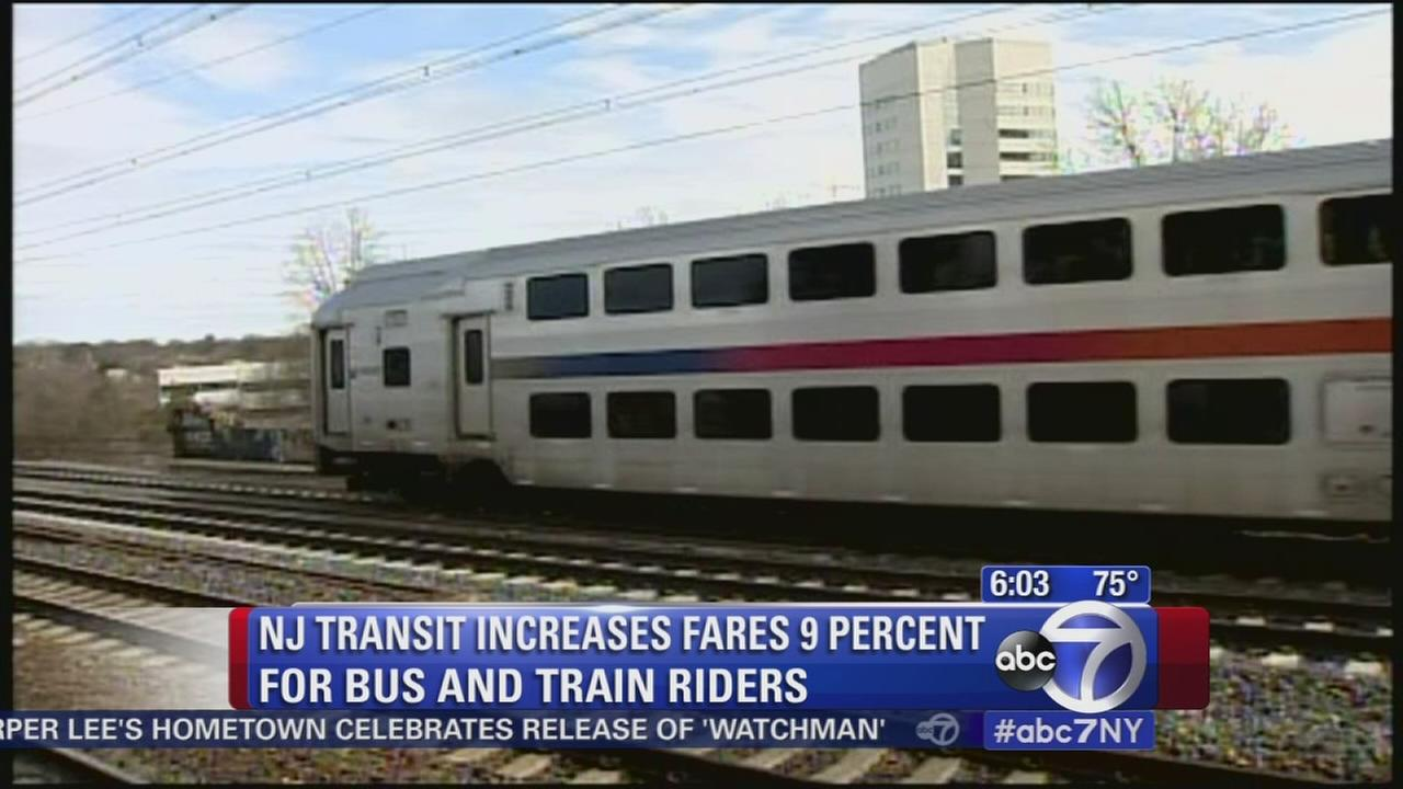NJ Transit increases fares for bus, train riders