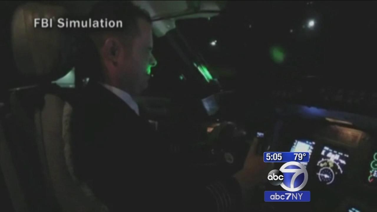 12 flights report being lit by lasers over NJ