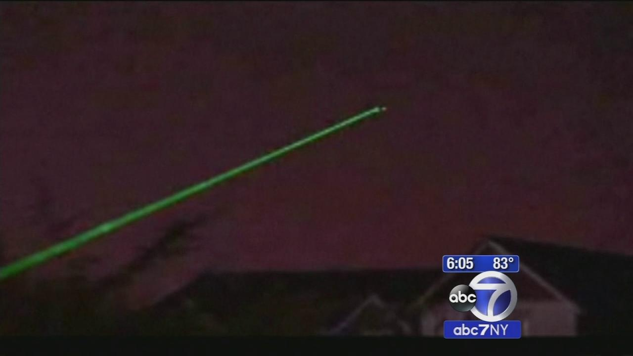 Dangerous rash of laser incidents involving flights in New York, New Jersey