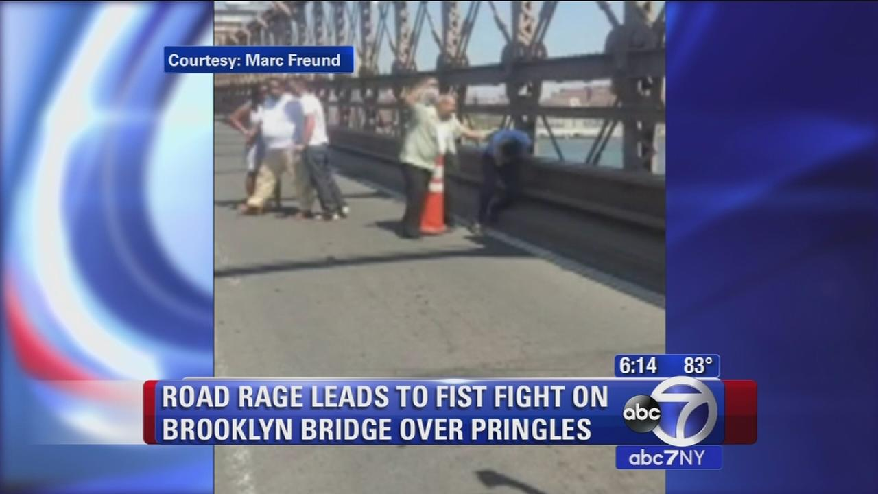 Road rage on the Brooklyn Bridge