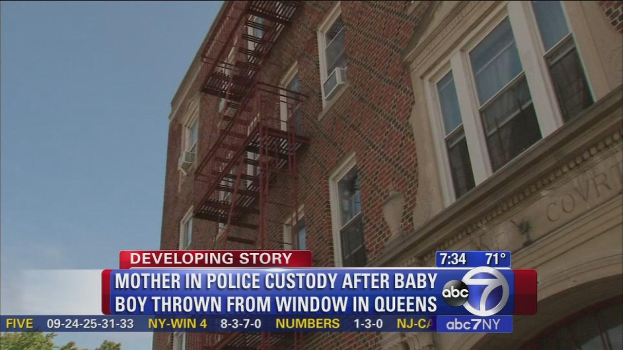 Mother in custody after polcie say infant was thrown from window