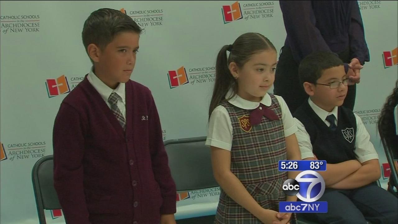 Students, principals of 4 Catholic schools in Harlem prepare to meet Pope