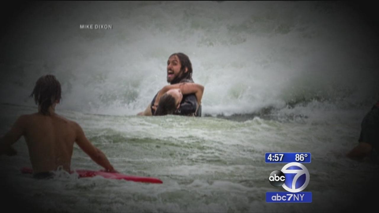 Surfer rescues girl caught in Lake Michigan rip current