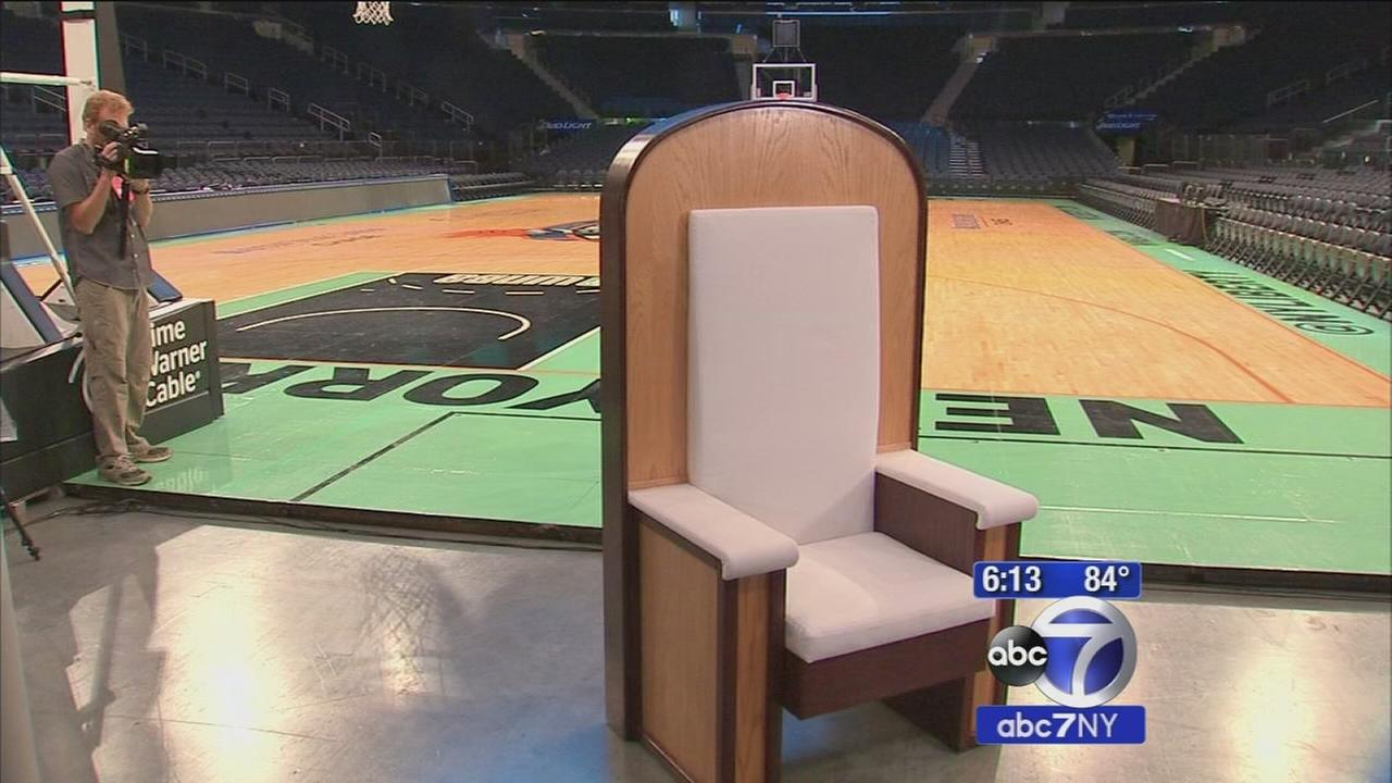 Pope Francis chair for Madison Square Garden mass unveiled