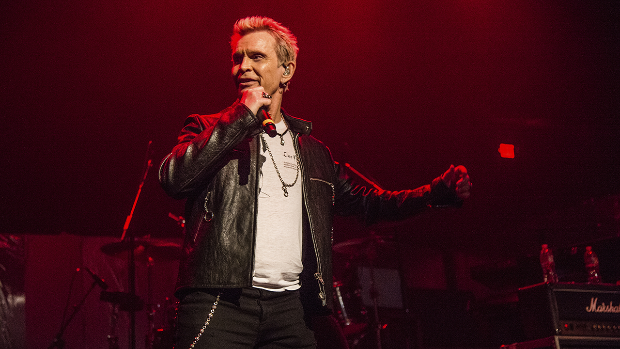 Billy Idol performs at the Above Ground Benefit Concert at Belasco Theater on Monday, April 16, 2018, in Los Angeles.