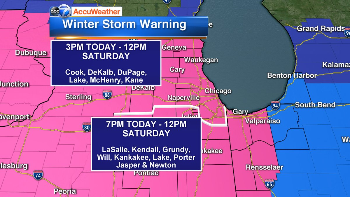 Chicago Weather: LIVE RADAR: Snowstorm dumps 4-9 inches; lake effect snow to bring more