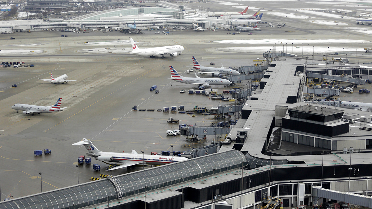 In this Feb. 11, 2015, file photo, ground traffic is seen from the control tower at OHare International Airport in Chicago.
