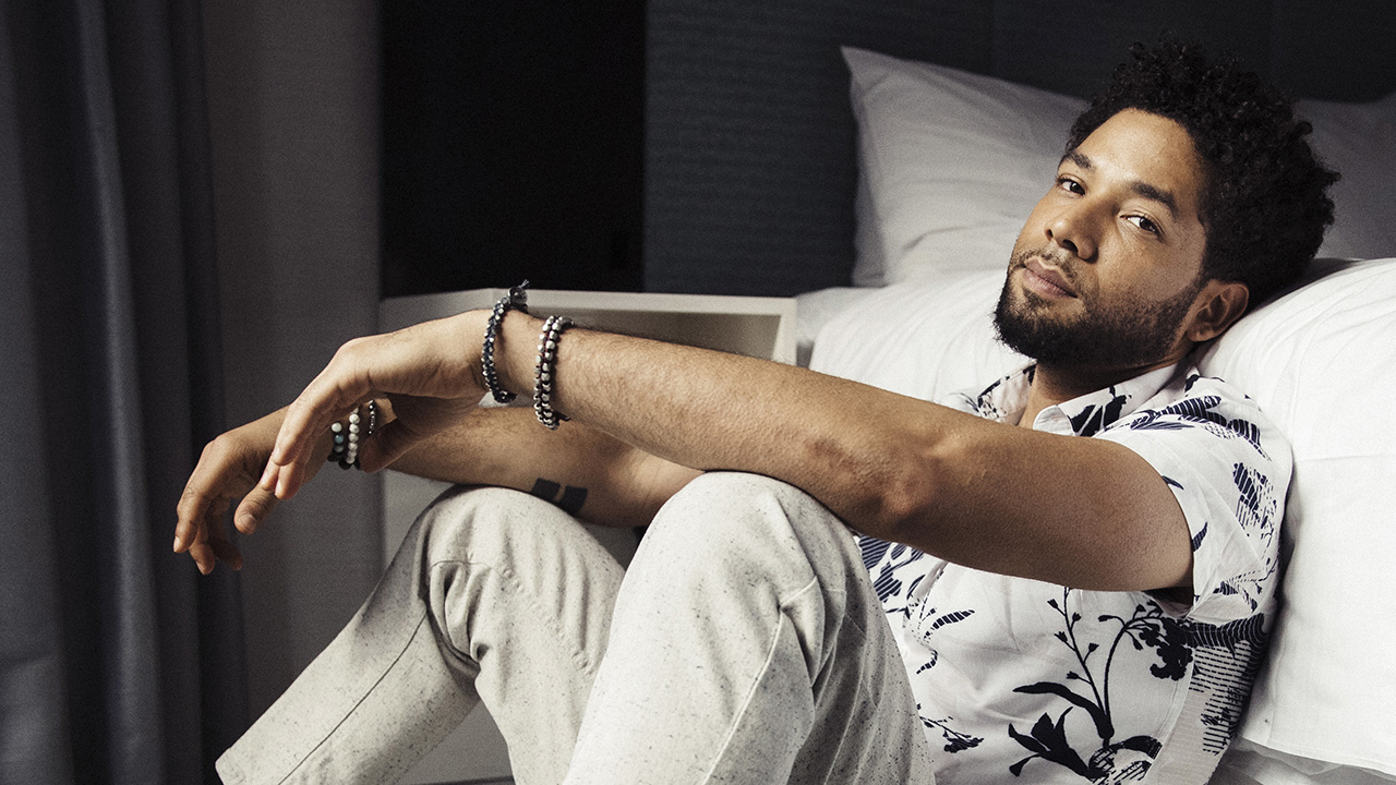 Actor-singer Jussie Smollett, from the Fox series, Empire, poses for a portrait on Tuesday, March 6, 2018, in New York.