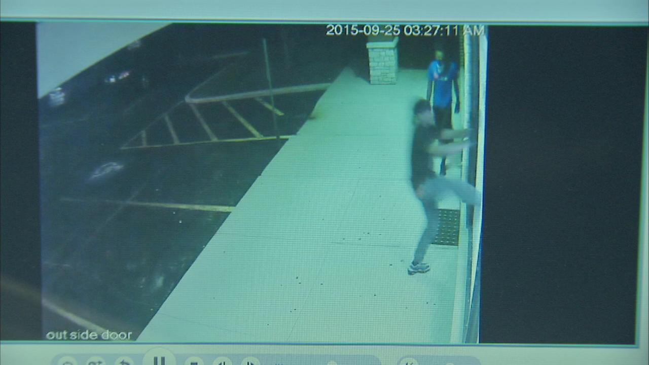 Footage shows burglars who hit the Vaughn Garouche Jewelry Collection in suburban Streamwood.