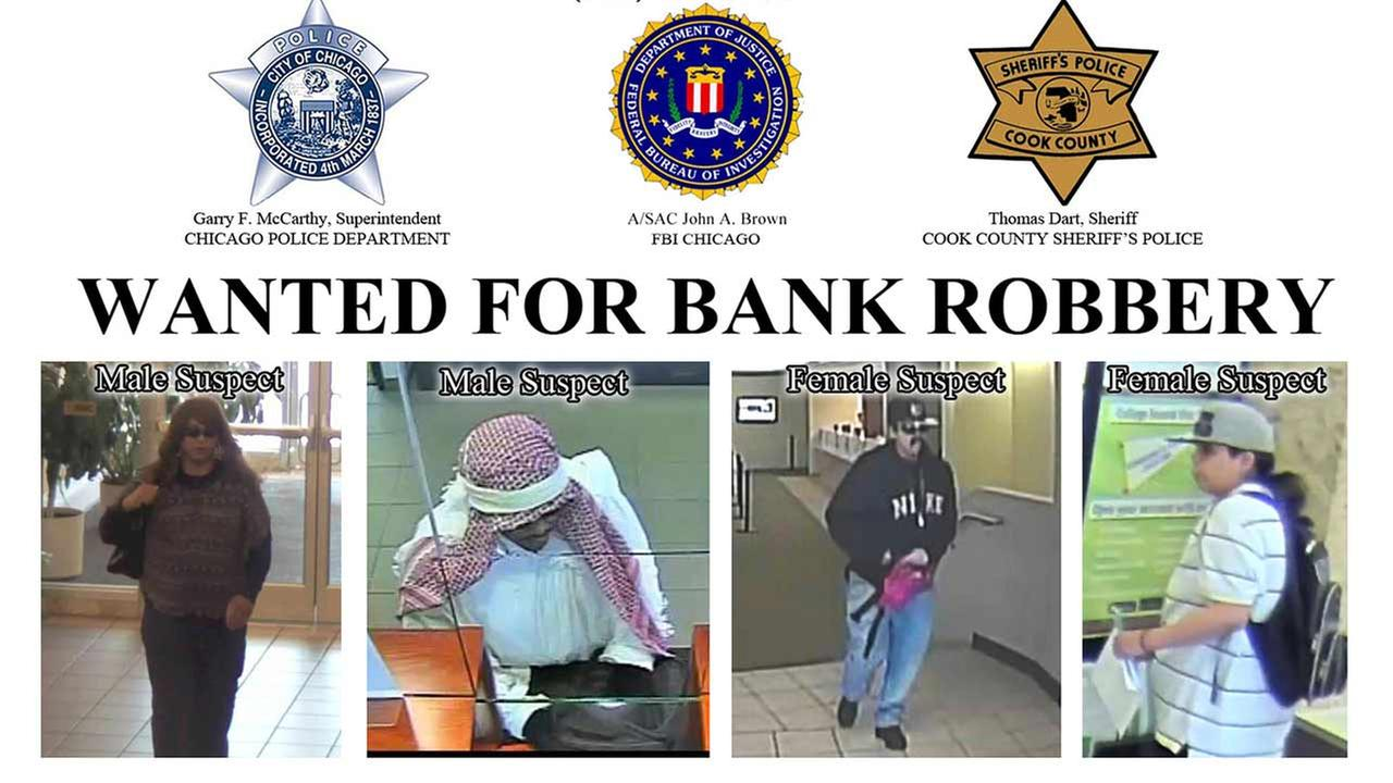A flyer about the Change Up Bandits released by the FBI.