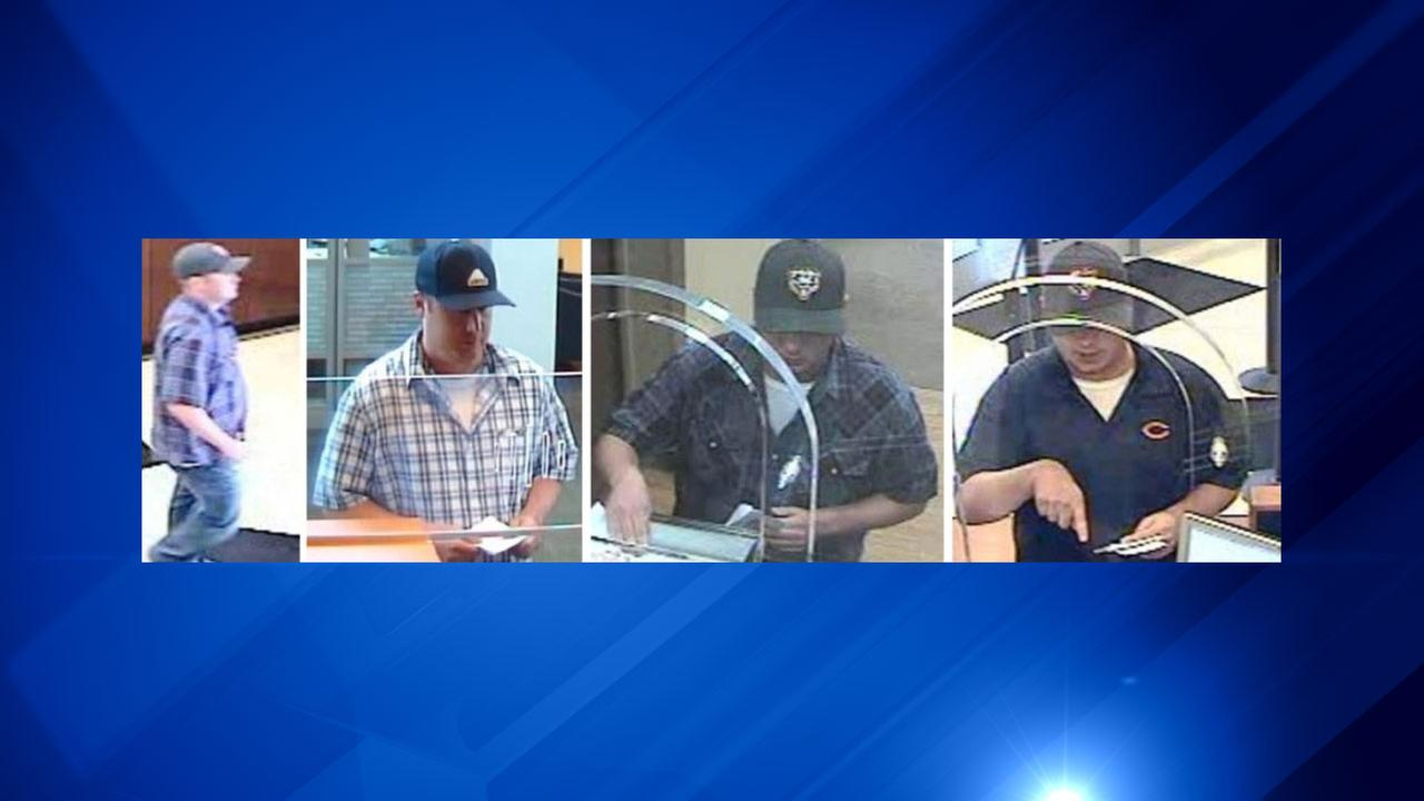 Surveillance footage of the North Center Bandit, who is suspected in three bank robberies.