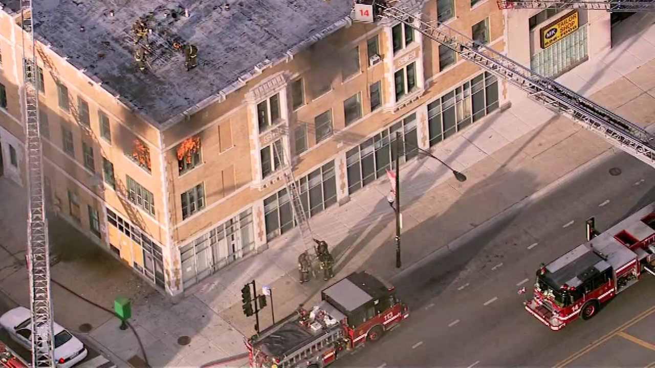 Crews battle West Side fire
