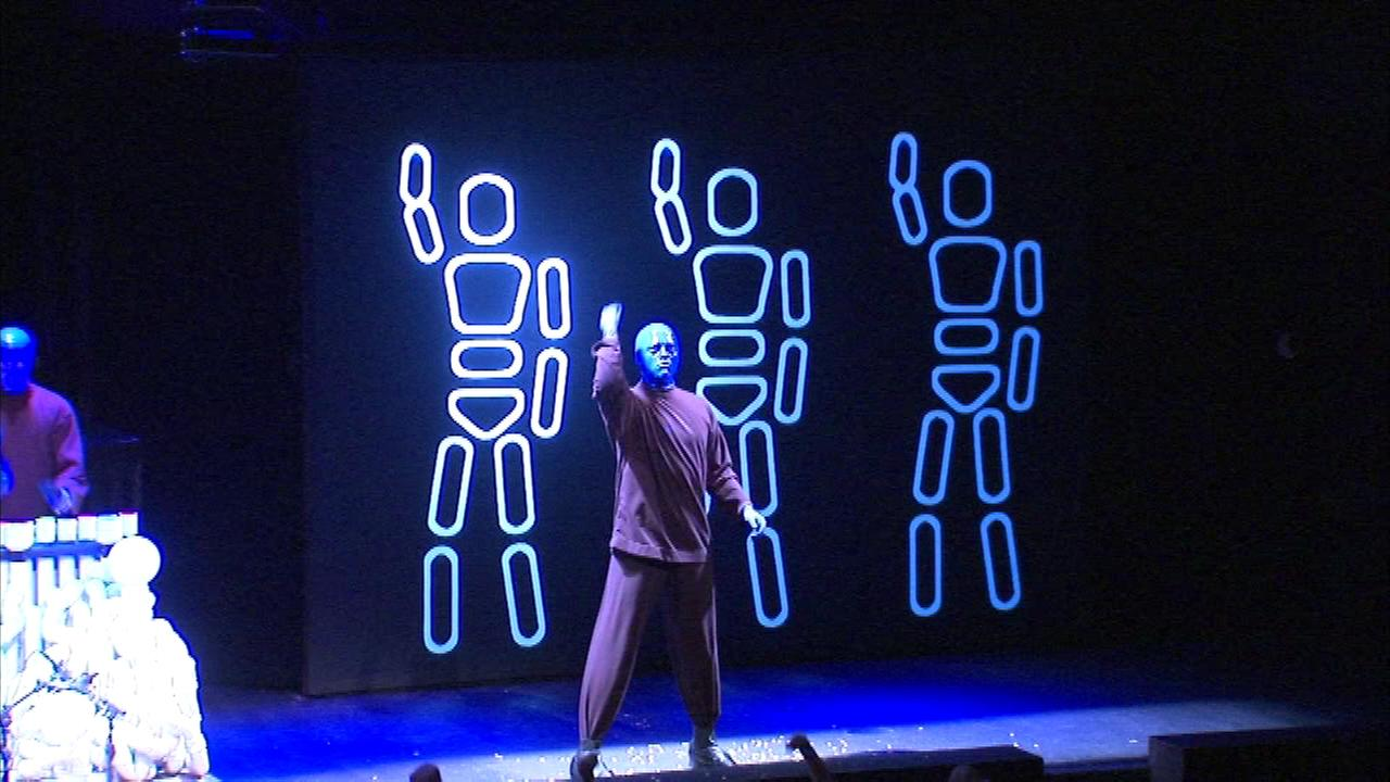 The Blue Man Group put on a new kind of show Sunday at Briar Street Theater in Chicago.