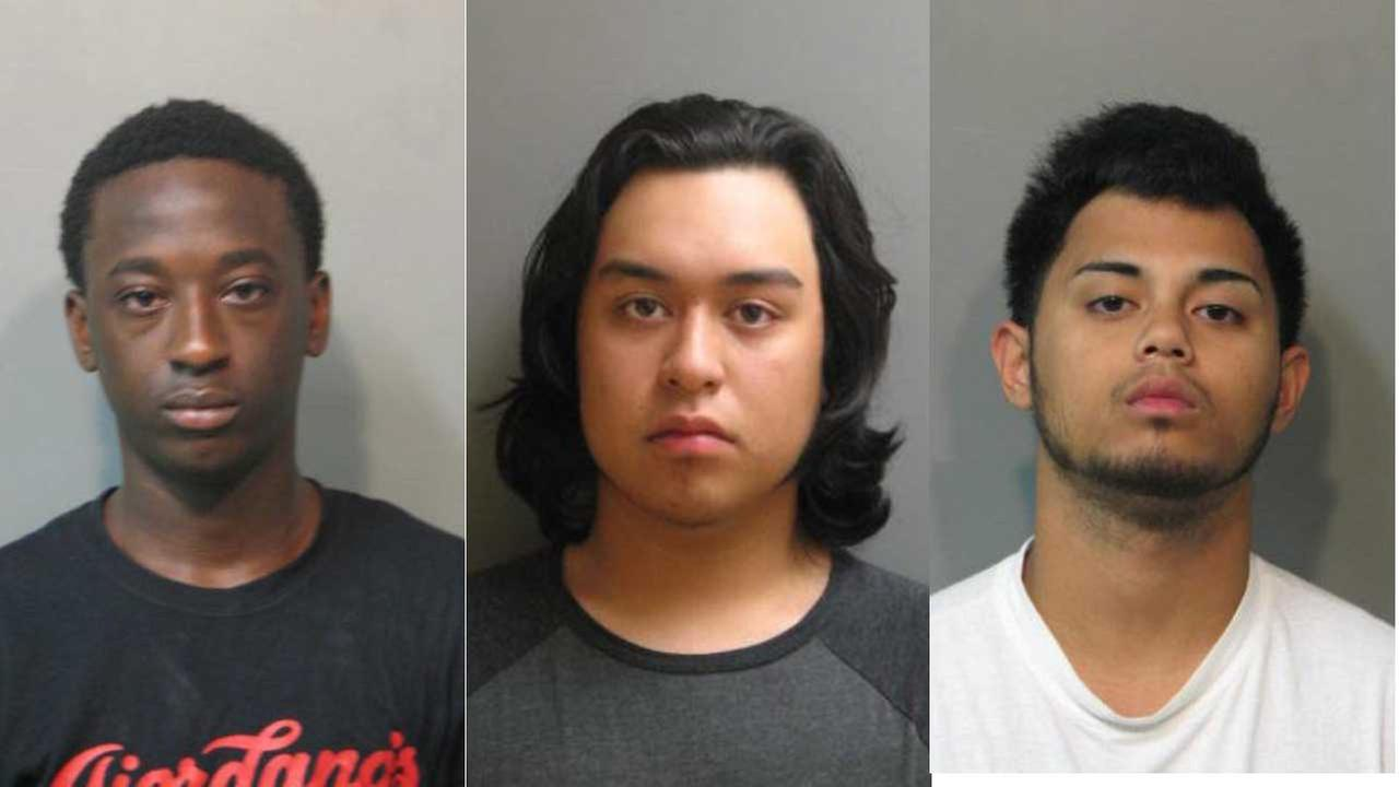 Andre Mendoza, 18, Jacob Adres, 19, and Malik Adams, 19, are charged with armed robbery.