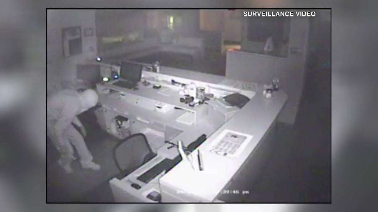 Valparaiso police are looking for a suspect seen on security video footage burglarizing the Vale Park Animal Hospital on Sept. 26.