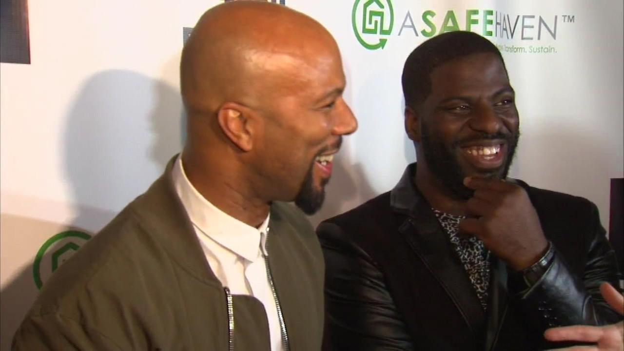 Common joined Che Rhymefest Smith for the premiere of In My Fathers House at the Music Box Theater.