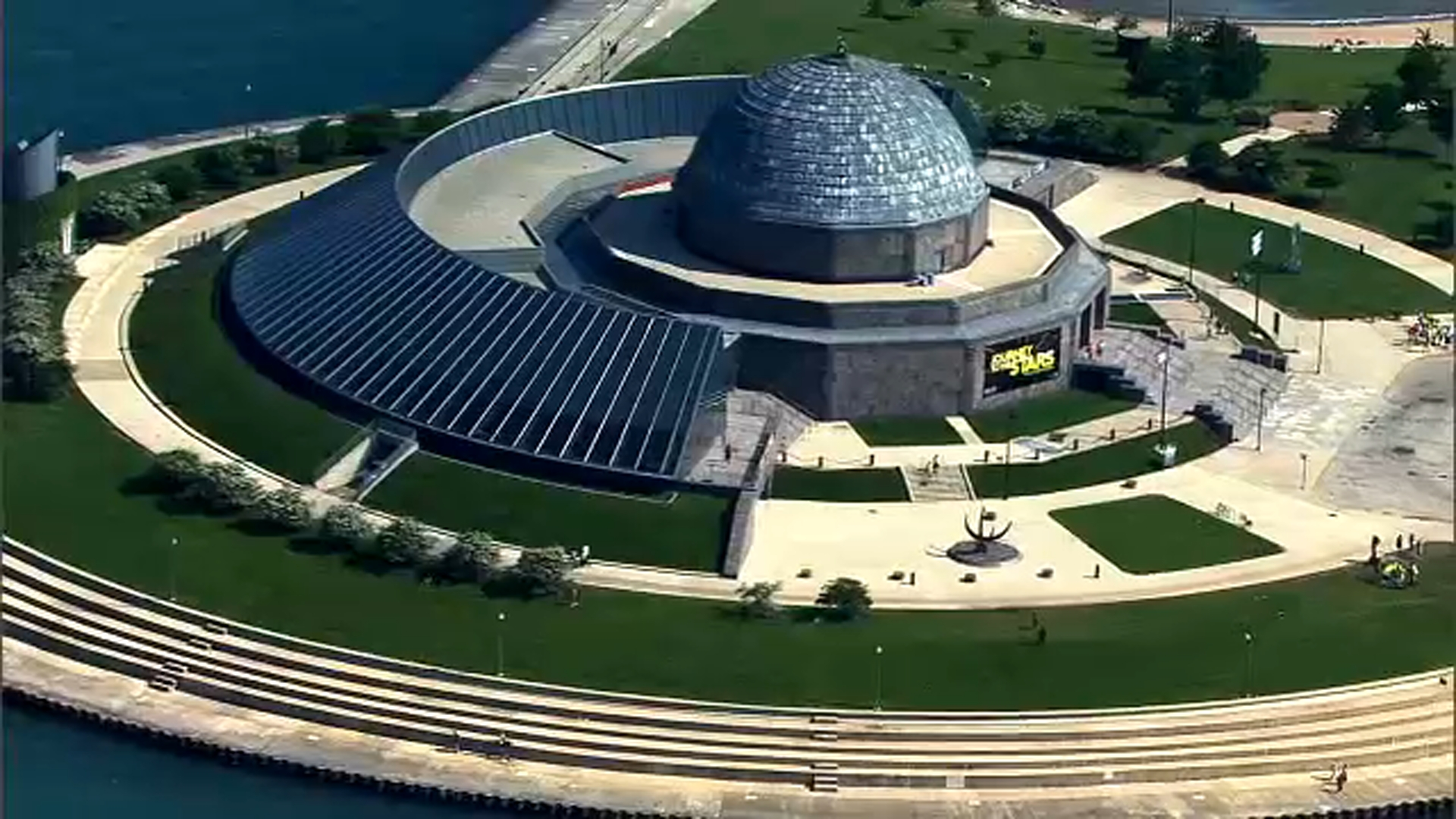 The Adler Planetarium in Chicago.