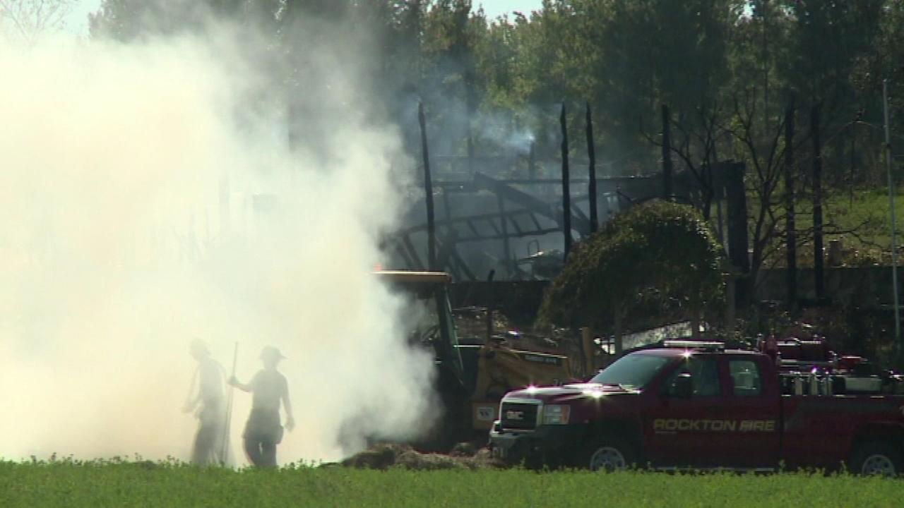 A man is missing and a woman seriously injured after an explosion and fire in a Rockford home Sunday.