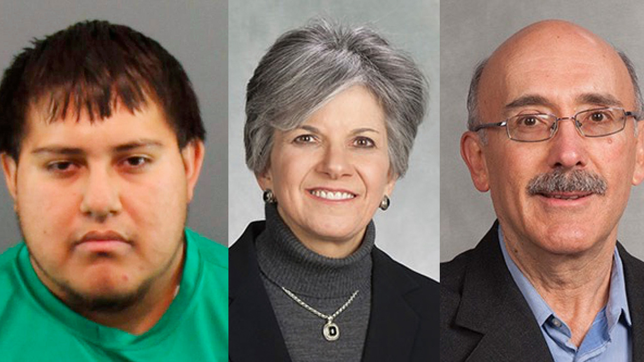 Son charged in death of Bradley University professor, husband