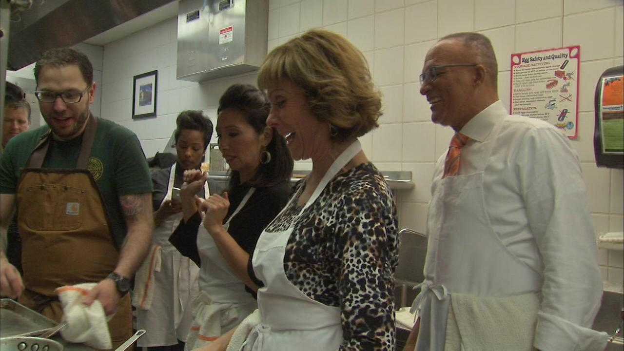 Judy Hsu, Roz Varon and Jim Rose at the Culinary Care cooking competition.