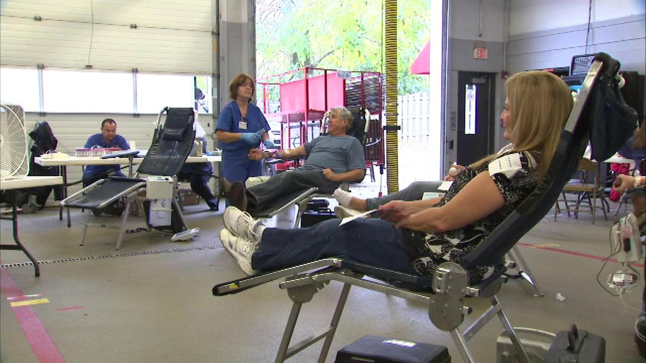A blood drive Saturday honored the memory of seven students killed when a Metra train hit their school bus.