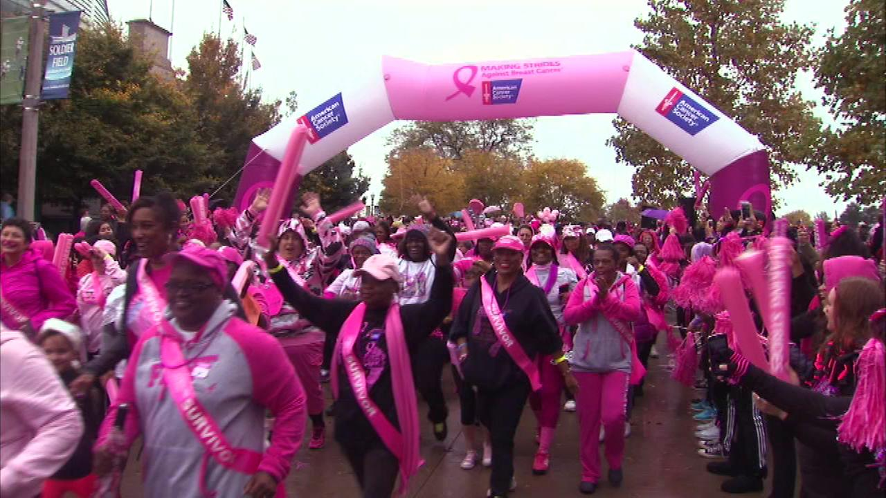 Thousands of people gather at Soldier Field Saturday to raise money and awareness for breast cancer research.