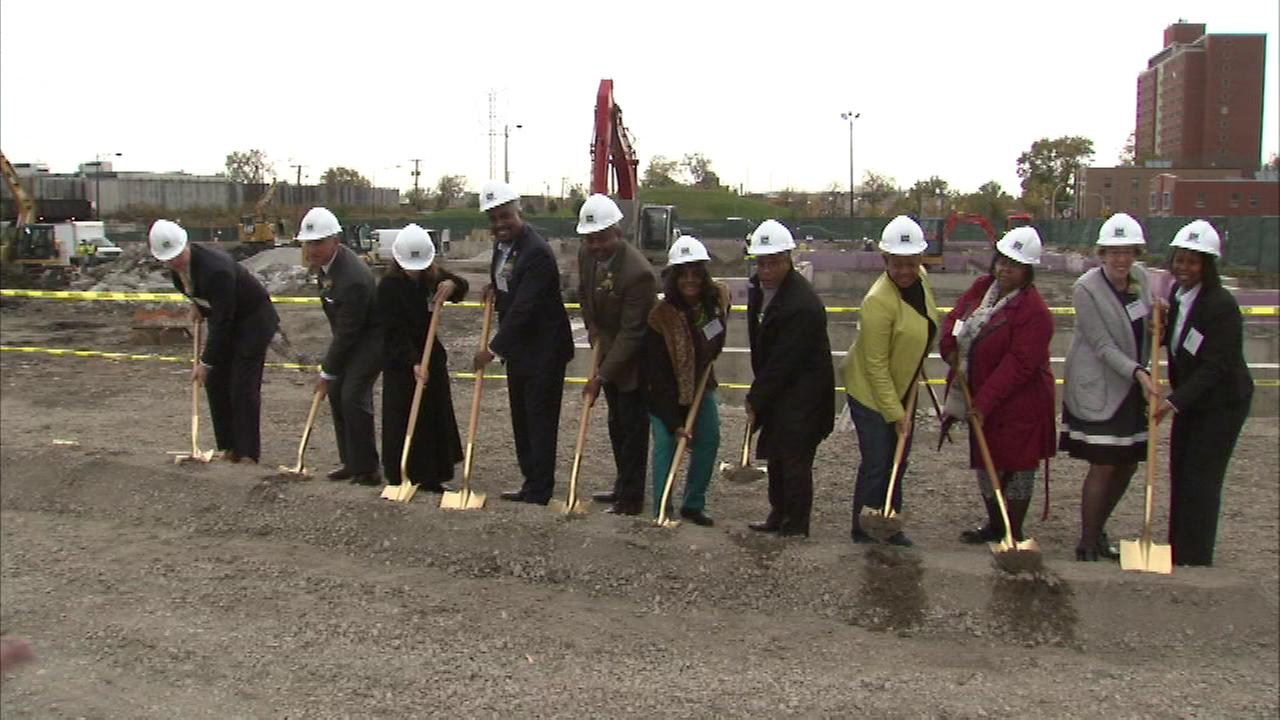 Alderman Walter Burnett was on hand to break ground Tuesday for the City Gardens Apartments near Jackson and Maplewood.