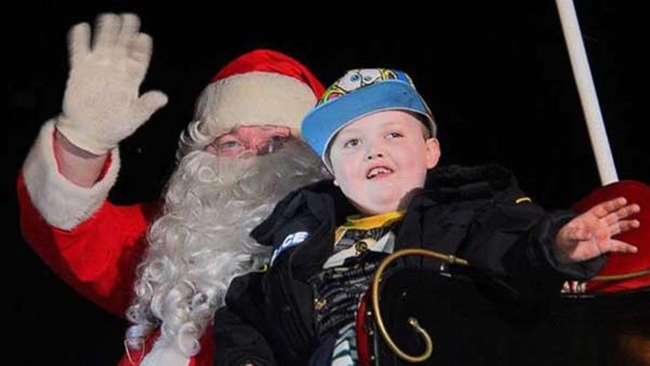St. George, Ontario celebrated Christmas on Saturday for 7-year-old Evan Leversage who has cancer.