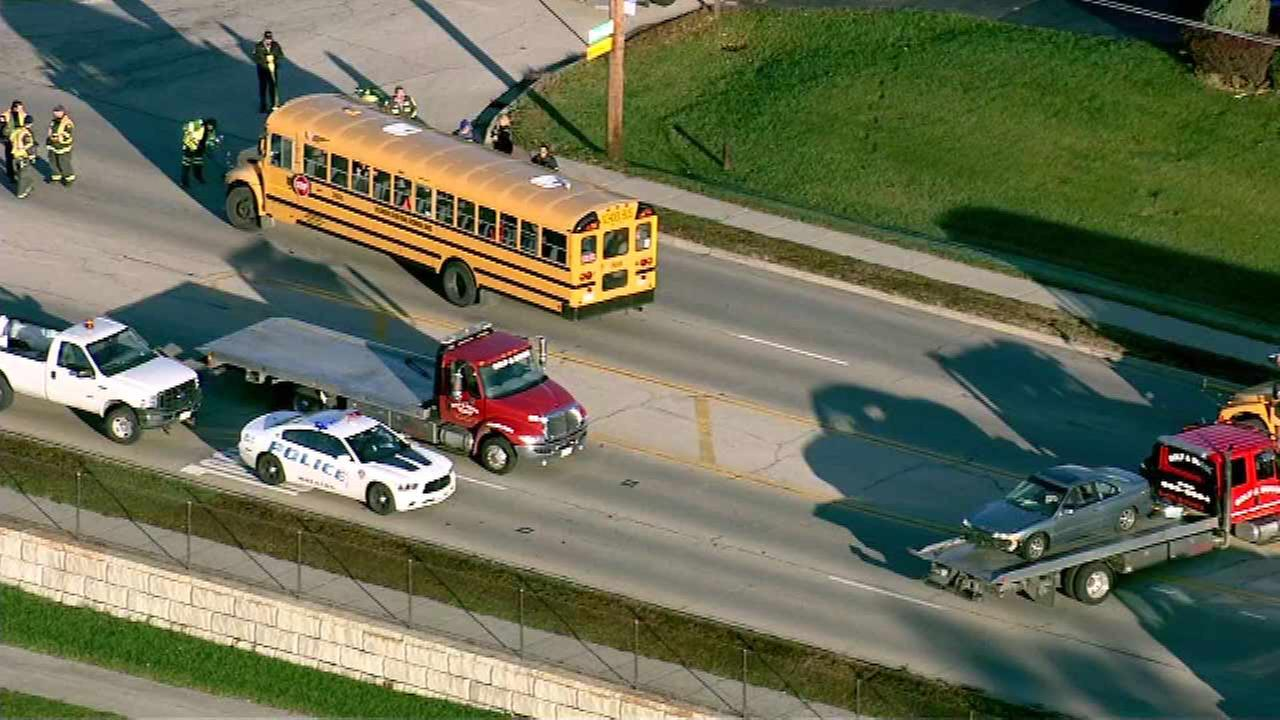 13 injured after crash involving school bus in Wheaton