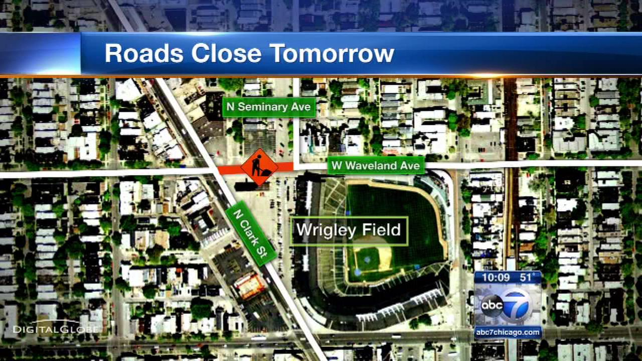 Wrigley Field construction brings street closures around park
