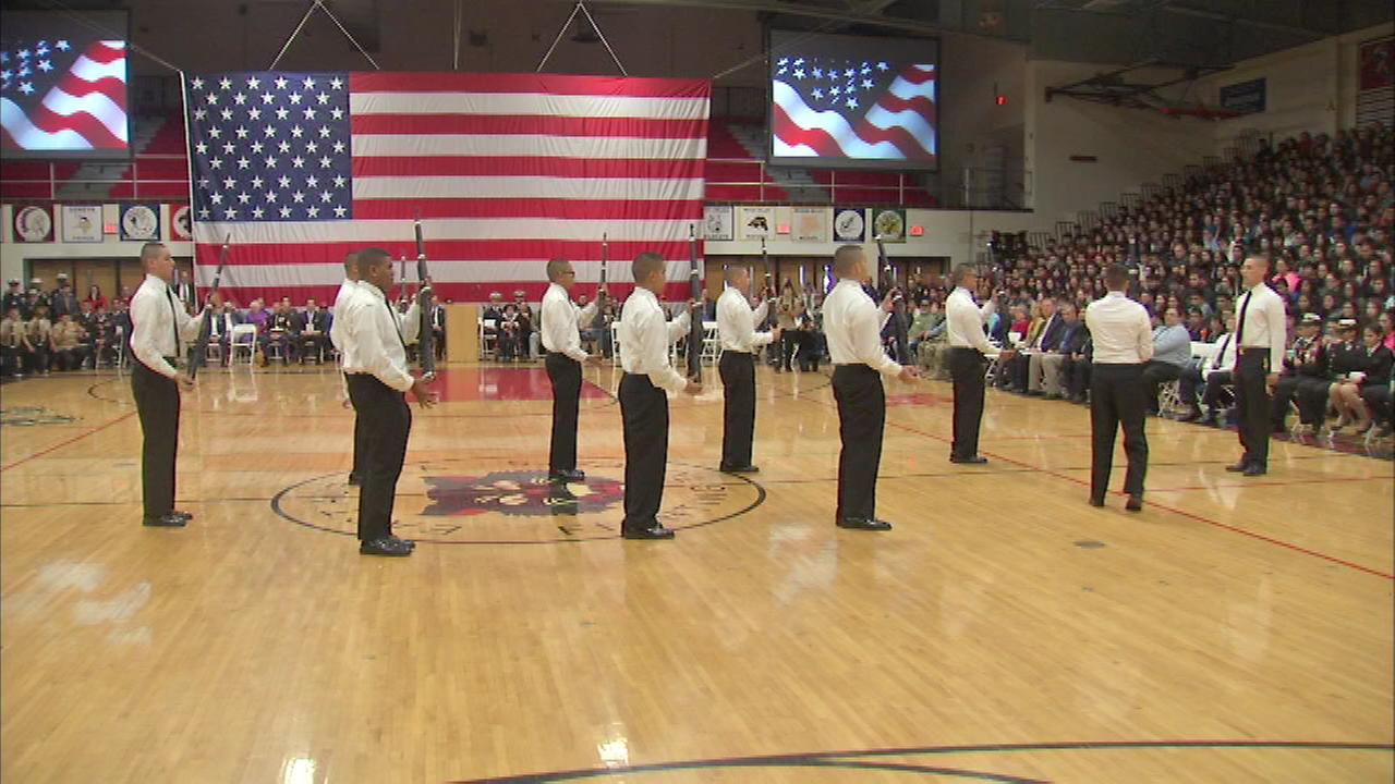 East Aurora High holds Salute to Veterans ceremony