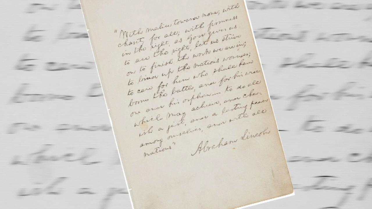 Lincoln manuscript auctioned for $2.2M