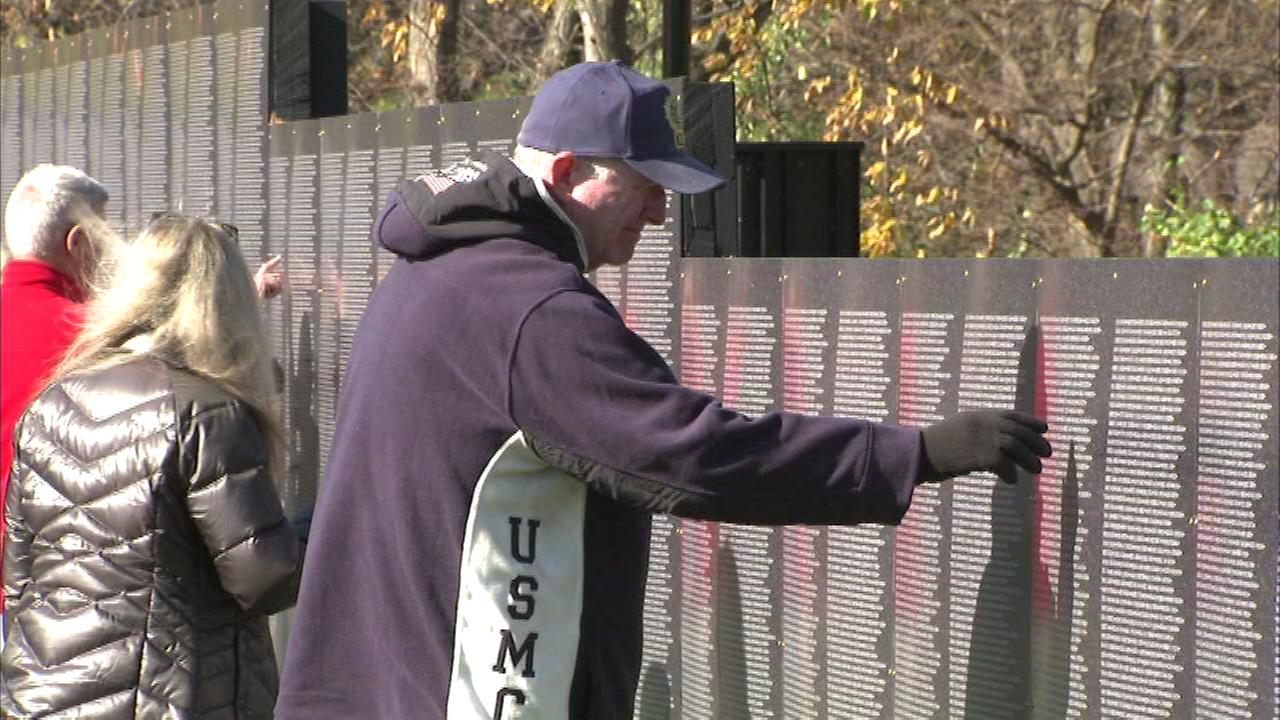 Naperville is hosting a replica of the Vietnam Veterans Memorial Wall next to the Healing Field of Honor