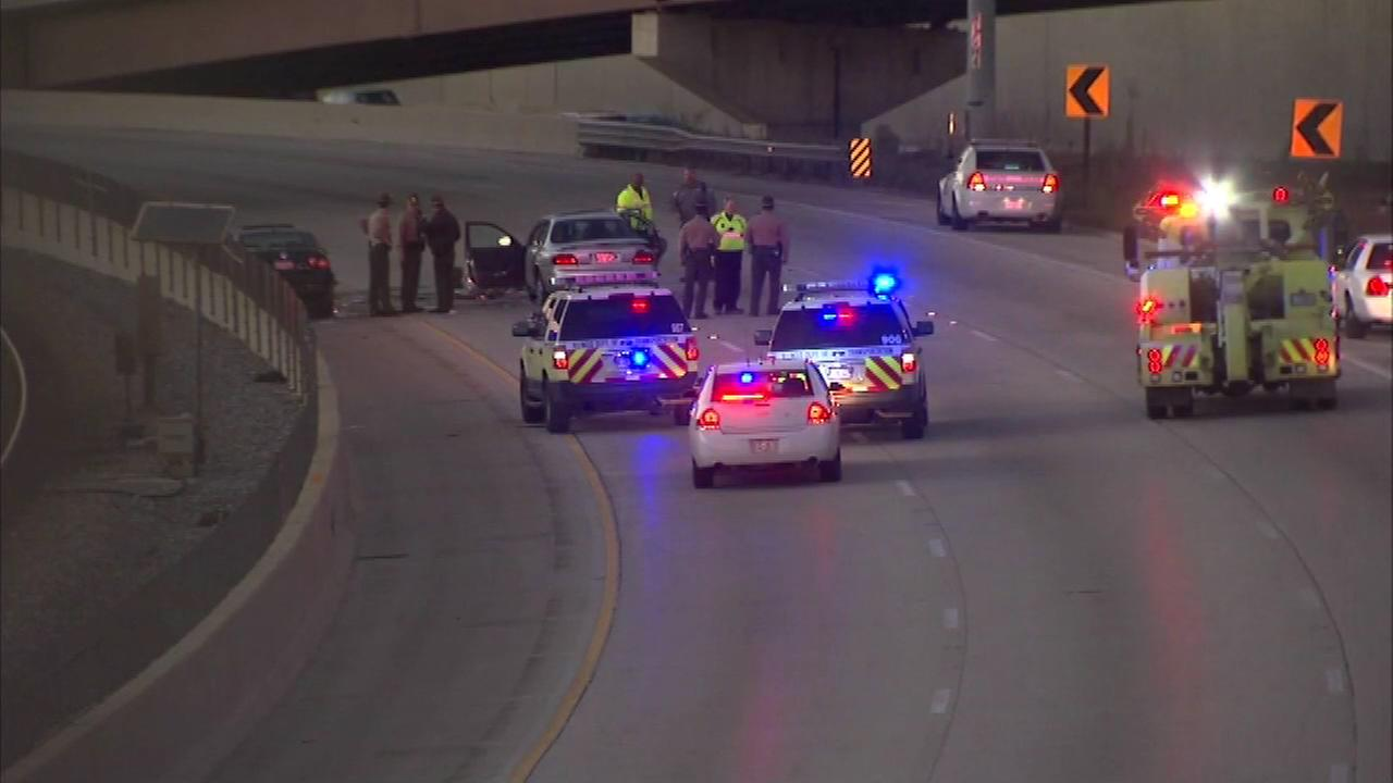 Two people were injured after wrong-way driver caused a crash on the Dan Ryan Expressway Sunday afternoon, police say.
